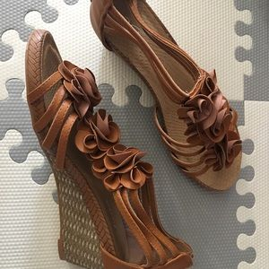 forever Shoes - Forever brown wedge sandal